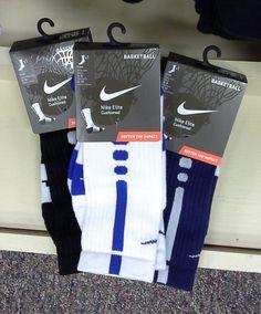 Select Nike Elite Socks, White/Blue Nike Elite Socks, Navy Nike Elite Socks, Black Nike Elite Socks