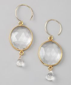 Take a look at this Amelia Rose Design Gold Cabo Gem Drop Earrings by Amelia Rose Design  on #zulily today!