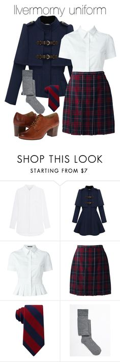 """""""Ilvermorny uniform"""" by ravenclawchick852 ❤ liked on Polyvore featuring Jadicted, Alexander McQueen, Lands' End, Tommy Hilfiger, ASOS and Frye"""