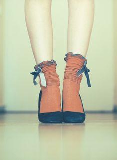Cute red bow socks. #PANDORAloves