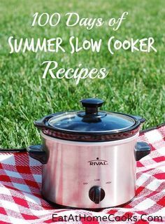 100 Days of Summer Slow Cooker Recipes - updated as the summer goes on. No soups or stews, just summer-y recipes.