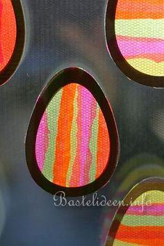 Fensterbild - Bunte Eier 3