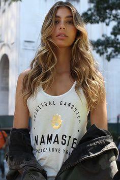 Namaste Hamsa Fave Tank Stardust