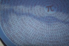 Pi Bowl in honor of Pi Day - 3.14159265! #customizable #geekery