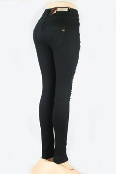 Distressed Skinny Jeans (Black) Mid waist distressed skinnies. Material: 70% Cotton, 27% Fiber, 3%Spandex Available in sizes 1-3-5-7-9-11-13-15