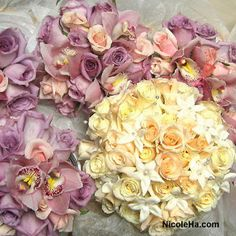 Wedding, Flowers, Bouquet, White, Purple, Nicole ha - Project Wedding
