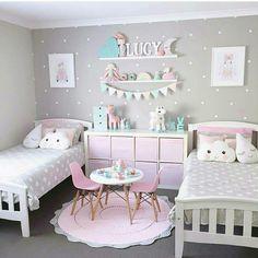 Chambre de petite fille couleur pastel / Pastel color for little ...
