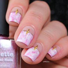 PATN presents marble - pink marble nail art