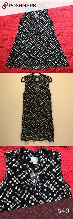 """ANTHROPOLOGIE SLEEVELESS A-LINE BUTTON UP DRESS Maeve lovely and comfortable sleeveless A-line shirtdress Front button up v-neck closure and removable self tie at waist Great preowned condition 100% rayon, handwash Size L Armpit to armpit 21"""" Front length 34"""" Back length 38"""" MAEVE Dresses Midi Button Up Dress, Front Button, Shirtdress, High Waisted Skirt, Anthropologie, Two Piece Skirt Set, Closure, V Neck, Buttons"""