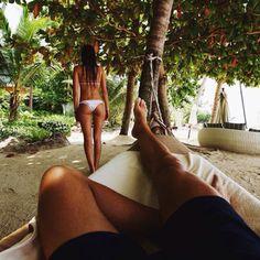 white bikini bottoms #ELLEMERswimwear :: Sport. Swimwear. Hawaii.