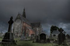 This haunting image of an old Irish cemetery and church plants a seed in my writer's mind. I can practically hear my characters clamoring for a suspense-filled journey at such a setting as this!