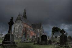 Irish cemetary and church, Tramore, Ireland