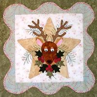 ANITA'S CHRISTMAS QUILT BLOCK #6 RUDOLPH QUILTING PATTERN, From P3 Designs, NEW
