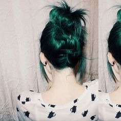 Deep green <3 Yup, it's going to be badass! ~ New hair, 2015, I love greens ~