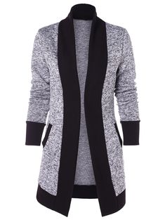 online shopping for Knit Cardigan Women Clothing Long Sleeve High Collar Casual Sweaters Pockets from top store. See new offer for Knit Cardigan Women Clothing Long Sleeve High Collar Casual Sweaters Pockets Cardigans For Women, Jackets For Women, Clothes For Women, Women's Cardigans, Women's Jackets, T-shirt Und Jeans, Shrug Cardigan, Cardigan Gris, Fashion Sets
