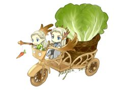 Travel - Chibi Legolas and Thranduil by kagalin