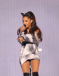 Ariana Grande performing Best Mistake at Honda Center in Anaheim