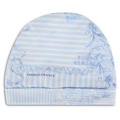 BABY BOYS BLUE BAROQUE PRINT BEANIE HAT Beanie Hats a402bcc21ec2
