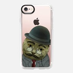 Casetify iPhone 7 Classic Grip Case - Vintage Cat by Barruf