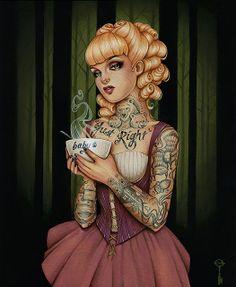 Fairy Tale Heroines by Glenn Arthur Live Fiercely Ever After...Goldie Locks