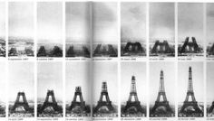 "construction  Cool! ""semi"" time lapse photos of the Eifel Tower?"