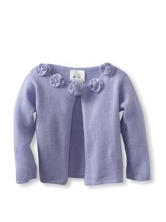 67% OFF Portolano Baby Cashmere Flower Detail Cardigan (Periwinkle) #apparel #Kids