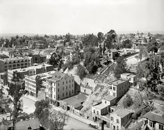 Bunker Hill in Los Angeles, a right-hand section of a three-part panoramic series, via a Shorpy and a Detroit Publishing Company glass negative (ca. Los Angeles Area, Downtown Los Angeles, Old Pictures, Old Photos, California History, Southern California, Vintage California, Shorpy Historical Photos, Historical Pictures