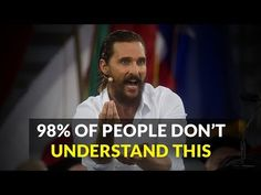 [Video] Advice Motivation and Tough Love from Matthew McConaughey Motivational Speeches, Motivational Videos, Inspirational Videos, Matthew Mcconaughey, The Book Of You, Life Isnt Fair, People Dont Understand, Life Video, Tough Love