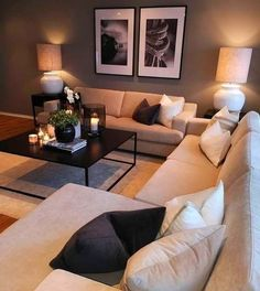 Warm Home Decor, Living Room Decor Cozy, Home Living Room, Living Room Designs, Cozy Living Room Warm, Cozy Apartment, Apartment Living, Home Interior Design, Home Design