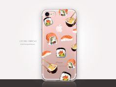 Sushi Clear Phone Case  Transparent Case  Clear Case  by CRCases