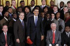 President Barack Obama with the 2009 National Championship Alabama Crimson Tide Football Team