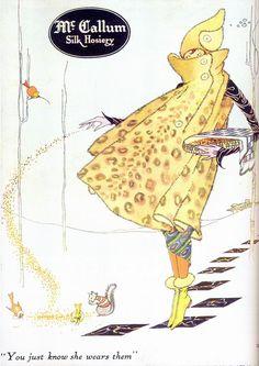 McCallum Silk Hosiery ad, 1922. Marjory Woodbury