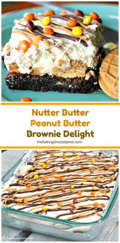 Nutter Butter Peanut Butter Brownie Delight- You'l… Source by BaknChocolaTess Best Dessert Recipes, Easy Desserts, Delicious Desserts, Yummy Food, Easy Recipes, Peanut Butter Brownies, Peanut Butter Recipes, Dessert Drinks, Dessert Bars