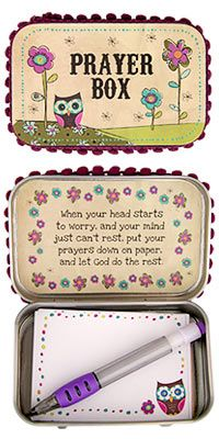 Owl Prayer Box -- No worries -- and purchase benefits animal rescue at The Animal Rescue Site