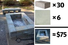 Firepit With A Bench