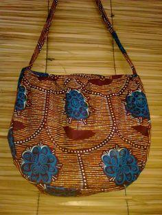 bolsa de tecido africano: capulana