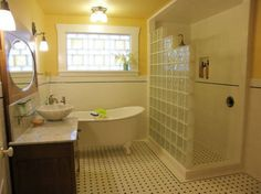 Glass Block Shower & Walk- In