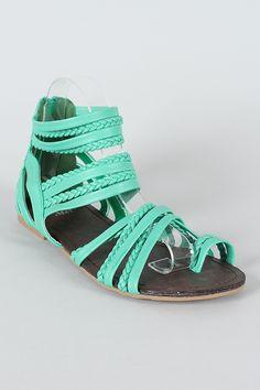 Miss Me Telly-1 Braided Gladiator Flat Sandal