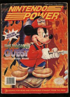 Great game, The Magical Quest Starring Mickey Mouse Gaming Magazines, Video Game Magazines, I Love Games, Games To Play, Computer Video Games, Walt Disney Animation, Arcade Machine, School Games, Mega Man