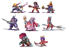 Main chars of FF9, old stuff - http://ahruon.tumblr.com/post/96297761645/main-chars-of-ff9-old-stuff