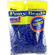 Darice 06121-2-03 1000 Count Pony Beads, 9mm, Opaque Blue Darice http://smile.amazon.com/dp/B004B7G73C/ref=cm_sw_r_pi_dp_Iz3pwb15MCGH4