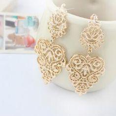 New Bohemian Vintage Emas perak Disepuh Leaf earrings wanita Fashion Wanita charm Menjuntai panjang anting Lucu Aksesoris