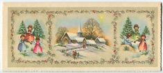 VINTAGE MID CENTURY VINTAGE CHRISTMAS TREES ANGELS VIOLIN CHURCH GREETING CARD   eBay