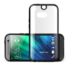 Amazon.com: SUPCASE All New HTC One M8 Case - Premium Hybrid Protective Bumper Case (Black/Clear) for HTC One 2014 Release: Cell Phones & Ac...