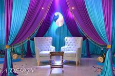 Vibrant and fun Hennah party decor