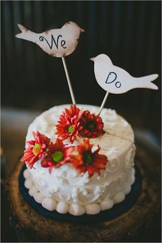 we do bird cake toppers