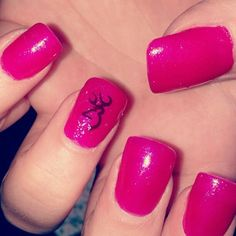 Loveeeee!!!.browning pink nails