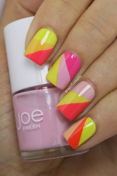 Joe Fresh Nail Art - grape fizz nails