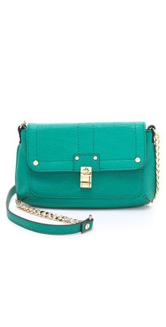 Milly Kelsey Leather Mini Bag...like the teal color!