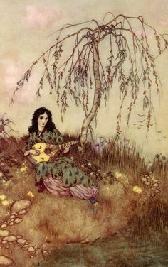 """labellefilleart: """" A Brave Heart, from Beauty and the Beast, Edmund Dulac """""""